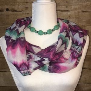 Multicolor Infinity Scarf Size
